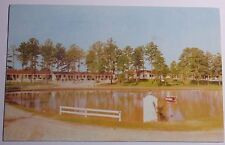 1955 PHOTO POSTCARD SAMYRA LAKE MOTOR COURT US 1 SIX MILE RALEIGH NORTH CAROLINA