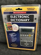 Scholastic Electronic Dictionary Ultra Slim Flexible Keypad Bookmark New