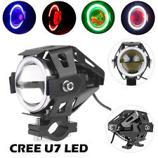 2X 125W CREE U7 LED Motorcycle Motorbike Light Headlight Spot Fog Light Lamp GE