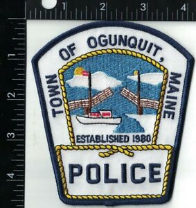 Town of Ogunquit Police Maine ME Police Patch