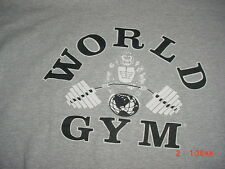 Gray World Gym Workout Excersize Gray T shirt-2XL-XXL