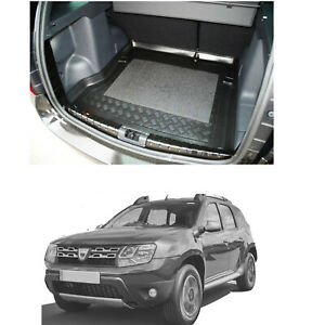 Dacia Duster 2x4 LDPE boot tray rubber load liner mat or bumper protector 3pc