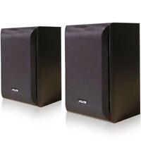 AVX Audio AVXBKS65 Premium Bookshelf Speakers (Pair) w/ 80 Watts RMS Power