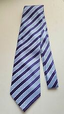 BLUE-STRIPED NECKTIE PRE-OWNED EXCELLENT CONDITION