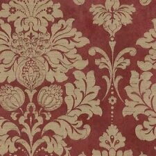 Victorian Damask in Dark Red and Gold Wallpaper MD29421 Double Roll FREE SHIP