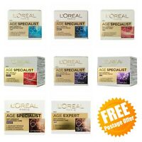 L'Oreal Age Specialist 35+ 45+ 55+ 65+ Anti Wrinkle Hydrating Day & Night Crеams