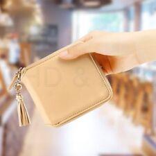 Portafogli e borsellini da donna in pelle beige con organizer