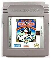 Monopoly Original Nintendo Gameboy Game - Tested - Working & Authentic!