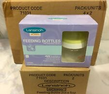 Lansinoh mOmma Feeding Bottles 5 oz Slow-Flow & Bpa Free - Lot of 4 Bottles
