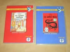 LOT 2 P'TIT DVD TINTIN / LES CIGARES DU PHARAON + LOTUS BLEU / TRES BON ETAT