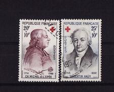 timbre France   paire croix rouge de 1959     num: 1226/27     oblitéré