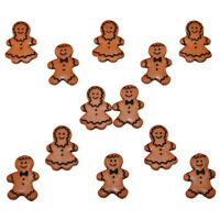 "Dress it Up ""Gingerbread People"" Buttons! Christmas"