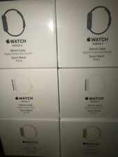 NEW APPLE WATCH SERIES 2 38MM SILVER ALUMINUM CASE WHITE SPORT BAND MNNW2LL/A