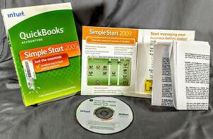 Intuit QuickBooks Simple Start 2009 : Windows PC - Retail Box - Free Shipping