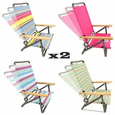 1-Pair Outdoor Garden Patio Sport Hiking Camping Beach Chair Folding Arm Chairs