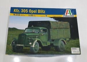 Italeri No. 216   1:35 Kfz. 305 Opel Blitz w/ Detail Set