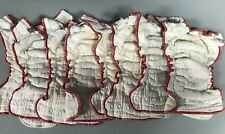Lot of 8 Medium Cloth-eez Fitted Cloth Diaper Workhorse Unbleached Organi Cotton