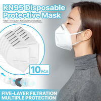 [10 PCS] KN95 Protective Face Mask 5-Layer FFP2 95% PM2.5 Disposable Respirator