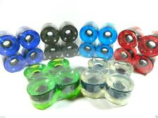 Rollerskate Wheels, Outdoor 60mm 78A  set of eight (8) various colors available.