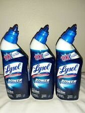 Lot 3 LYSOL 10X Cleaning Power TOILET BOWL CLEANER 8 fl oz each