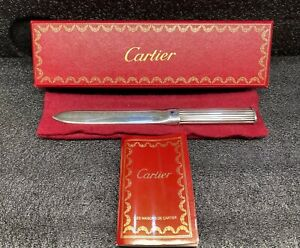1992 AUTHENTIC CARTIER COLLECTION LAPIS LETTER OPENER MADE IN SPAIN VERY RARE!!!