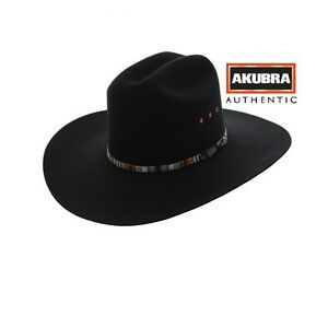 Akubra Bronco Hat - Black - Australian Made