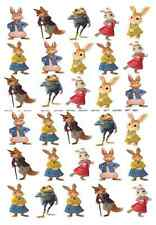 30 x PETER RABBIT stand up edible wafer paper birthday party cupcake toppers