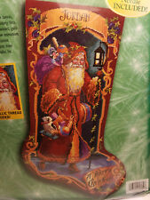 Bucilla 60769 Needlepoint FATHER CHRISTMAS Stocking Kit ~ Sealed ~ Rossi