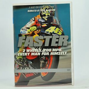 Faster Motorcycle Ewan McGregor Rare DVD 2005 Good Condition Free Tracked Post