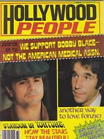 OCT 1977 HOLLYWOOD PEOPLE vntage movie magazine FARRAH - FONZ - BIONIC WOMAN