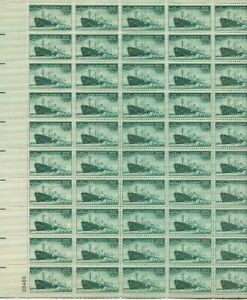 1945 3 cent Merchant Marine Full Sheet of 50 Scott #936, Mint NH
