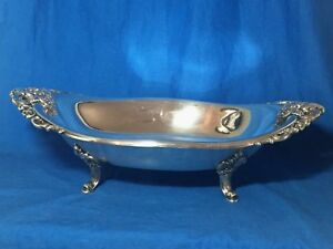 Wallace Silverplate Baroque Pattern Oval Centerpiece Bowl