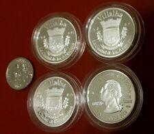 LOTE 4 Silver PESETA VILLALBA 2009 Puerto Rico Boricua Quarter 1/100 Plata