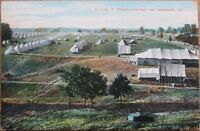 Indianapolis, IN 1910 Postcard: Fort Benjamin Harrison, Camp - Indiana Ind