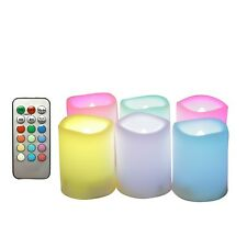 Flameless LED Battery Operated Color Changing Votive Candles with Remote 6-Pack