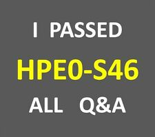 I Passed 100-Q&A ASE Server Solutions Architect V3 Test HP0-S46 HPE0-S46 PDF