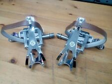 VP Components VP-337 Single Sided Track Pedals Plus VP712 Toe Clips And Straps