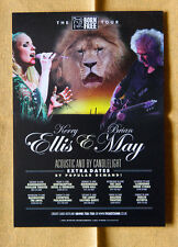 BRIAN MAY + KERRY ELLIS  uk tour 15x20 cm rare flyer mini poster QUEEN BORN FREE