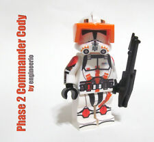 Custom Commander Cody Star Wars Clone Trooper Minifigure rex phase2 lego bricks