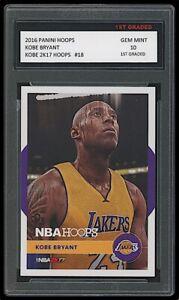 KOBE BRYANT 2016 PANINI HOOPS 2K17 #18 1ST GRADED 10 CARD LA LAKERS NBA HOF