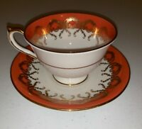 Aynsley Bone China Numbered Tea Cup And Saucer