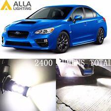 Alla Lighting Fog Light H11 Super White LED Bulbs Driving Lamps for Subaru WRX