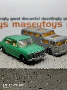 Matchbox Lesney Pair MG 1100, Greyhound Bus. Original Vintage Diecast