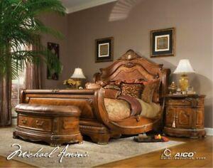 AICO by Michael Amini Cortina 5PC king size bedroom set