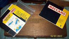 Un conjunto MD 1970s Hornby Meccano Nº 9 piezas 100% Completa, En Caja.