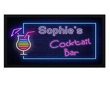 Personalisiert Cocktail Barmatte / Läufer - Add Ihr Name - Bier, Pub, Top