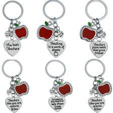 Apple Heart Keyring Teachers Gift For Teacher Keychain Key Chain Charm Jewelry