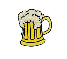 Patch embroidered iron on cloth badges kawaii biker beer pint applique