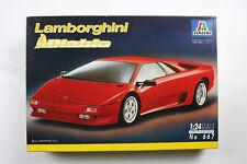 VINTAGE ITALERI LAMBORGHINI DIABLO ROSSA 1990 1/24 AUTO CAR PLASTIC KIT