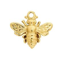14kt Yellow Gold 3D Small Honeybee charm 10mm x 11.4mm